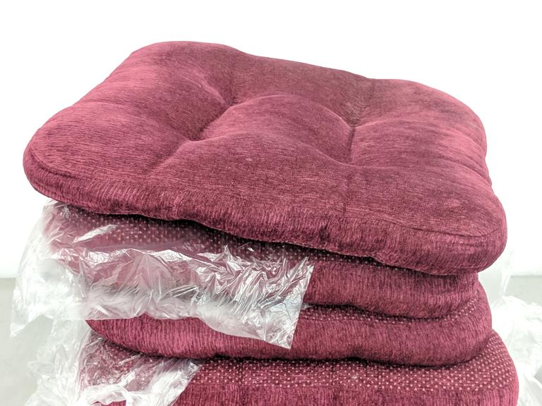 Dutch Goat Auction Lot Of 5 16x16 Red Patio Chair Cushions