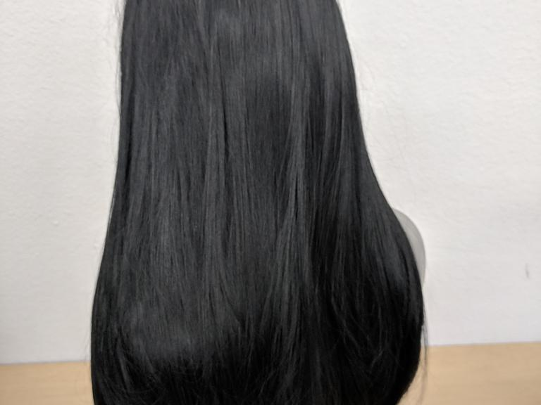 Long Straight Black Synthetic Wig