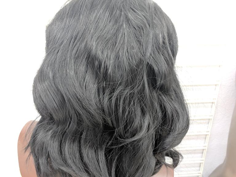 Short Wavy Black Synthetic Lace Front Wig