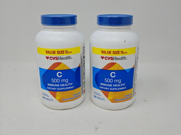 Lot of 2 CVS Health C 500mg Immune Health - 500 Tablets