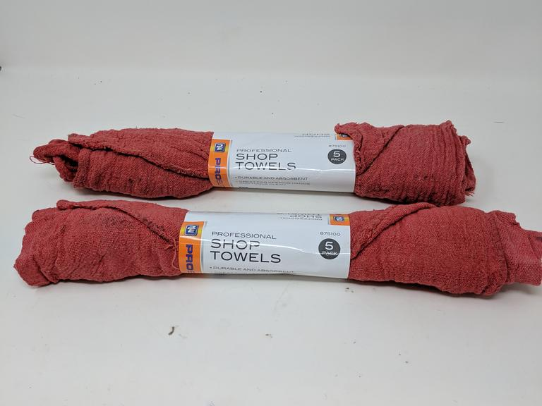 Lot of 2 Packs of 5 Pro Elite Professional Shop Towels