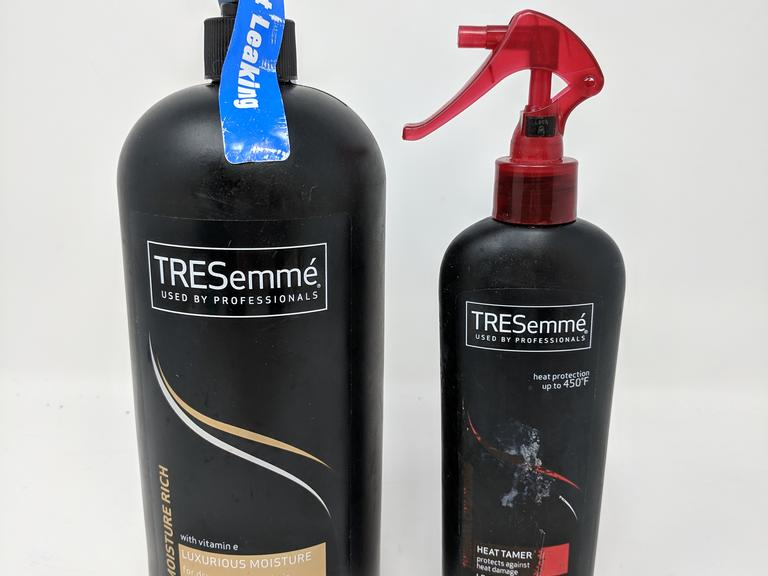 Lot of 2 TRESemme Hair Products - Moisture Rich Shampoo 39 fl. oz. & Heat Tamer 8 fl. oz.